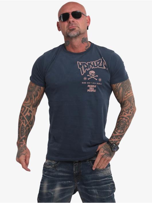 Yakuza t-shirt Guns Vs People blauw