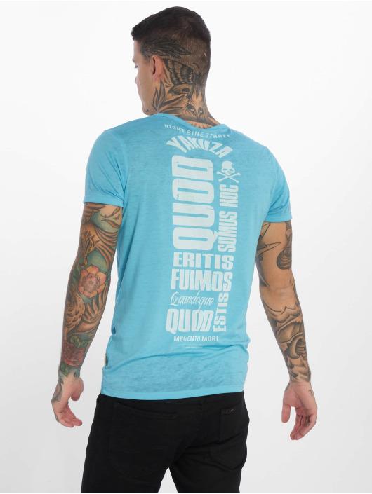 Yakuza T-Shirt Burnout Quod Sumus Hoc Eritis bleu
