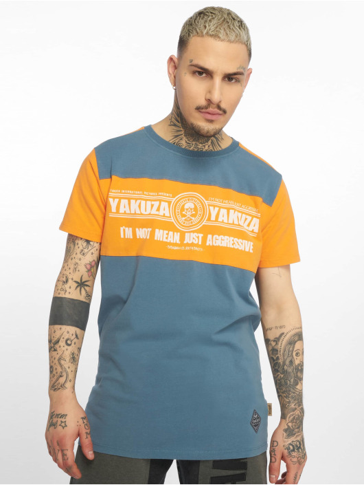 Yakuza T-Shirt Aggressive Two Face bleu
