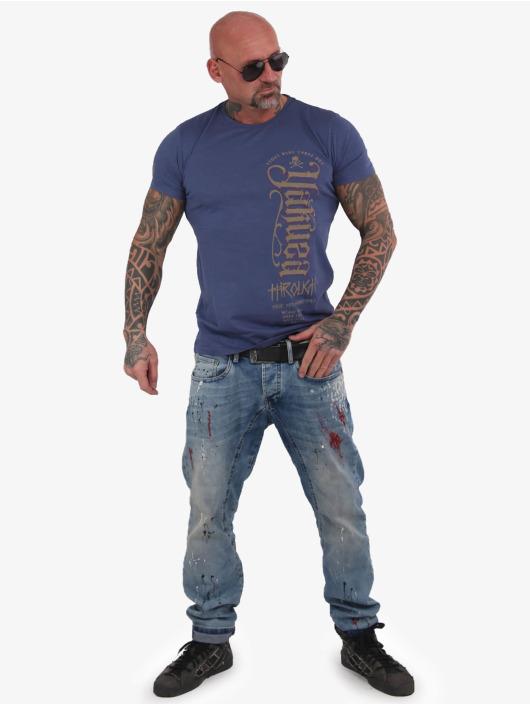 Yakuza T-Shirt Through Bones bleu