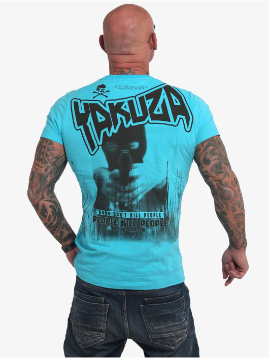 Yakuza T-Shirt Guns Vs People bleu