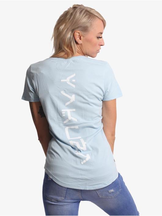 Yakuza T-Shirt Nippon Unicorn Dye V-Neck bleu