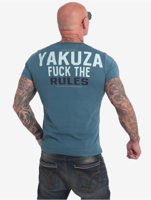 Yakuza T-Shirt Rules bleu