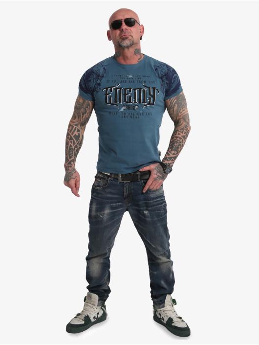 Yakuza T-Shirt Far From The Enemy bleu