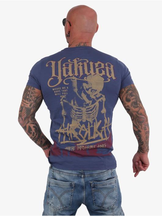 Yakuza T-shirt Through Bones blu