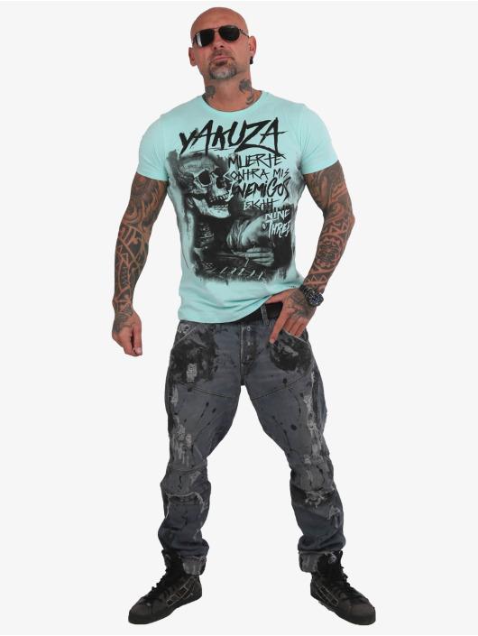 Yakuza T-Shirt Muerte Skull blue