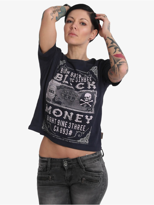 Yakuza T-Shirt Black Money Panelling Box Fit blue