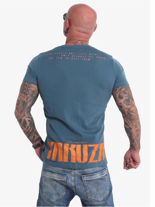 Yakuza T-Shirt Crucified blue