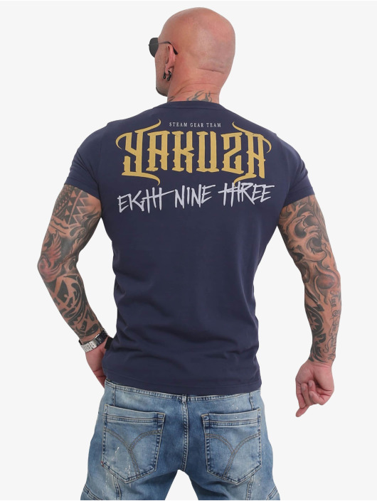 Yakuza T-Shirt Through Skull blue