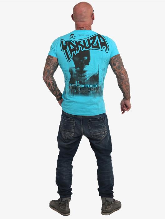 Yakuza T-Shirt Guns Vs People blue