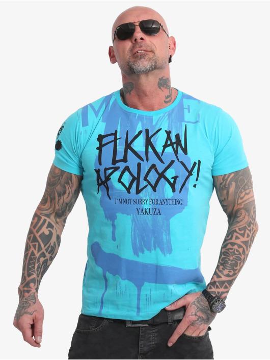 Yakuza T-Shirt Apology blue