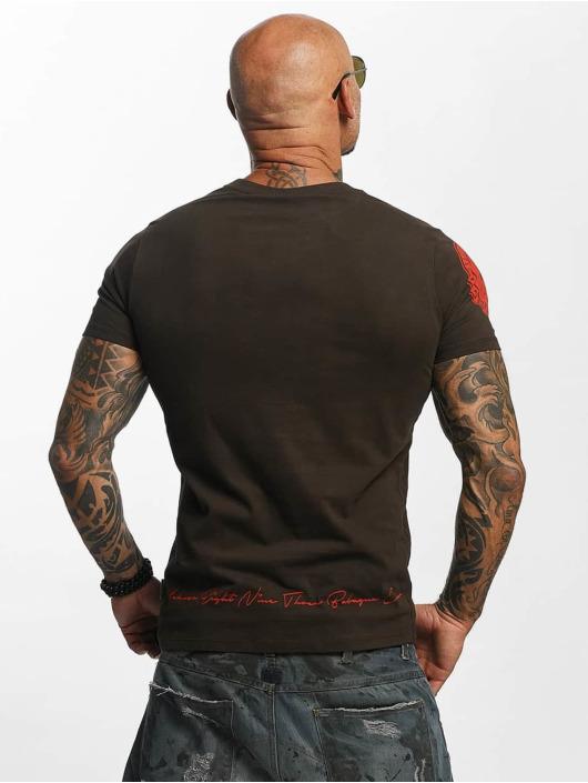 Yakuza T-Shirt Daily Skull braun