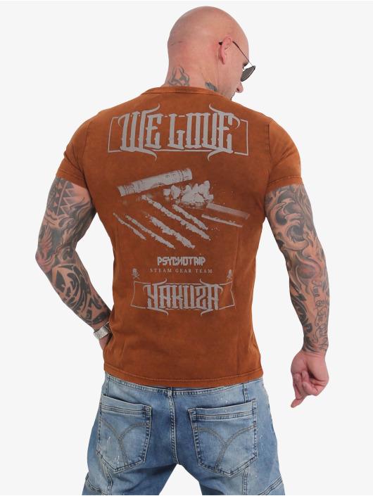 Yakuza T-Shirt We Love braun