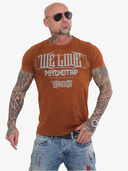 Yakuza T-Shirt We Love brown
