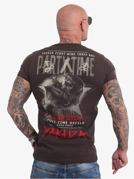 Yakuza T-Shirt Party Time brun