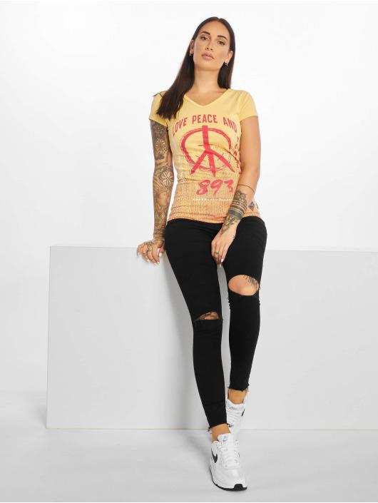 Yakuza t-shirt Love & Peace geel