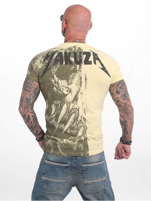 Yakuza t-shirt Beast geel