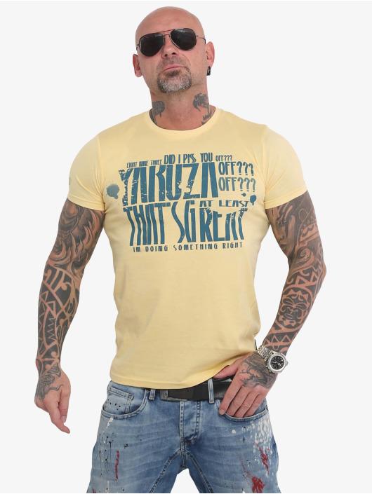 Yakuza t-shirt Piss Off geel