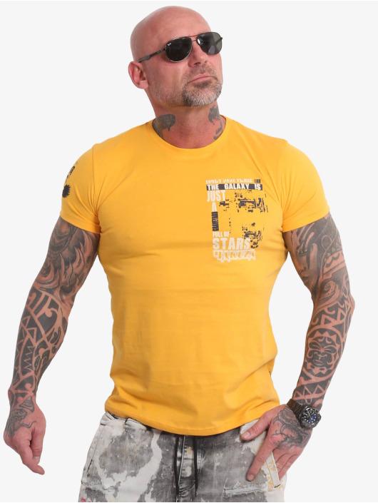 Yakuza t-shirt Galaxy geel