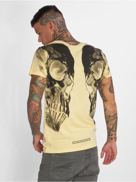 Yakuza T-Shirt Skull V02 gelb