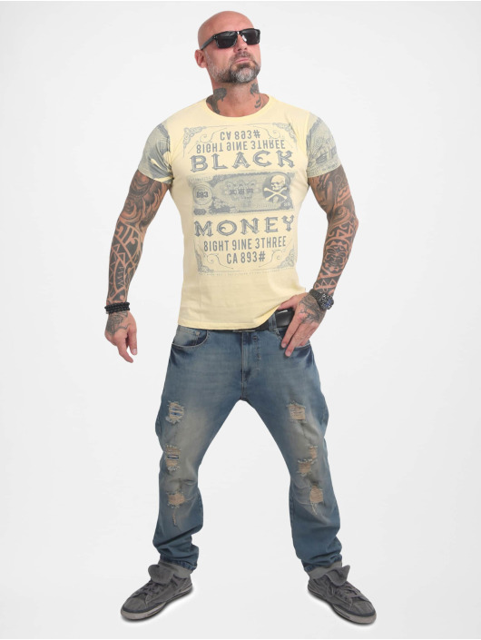 Yakuza T-Shirt Black Money gelb