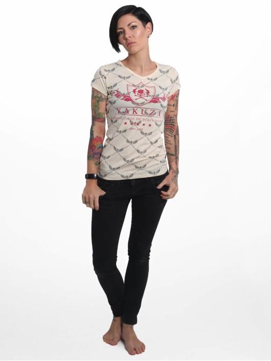 Yakuza T-Shirt Crests V Neck gelb
