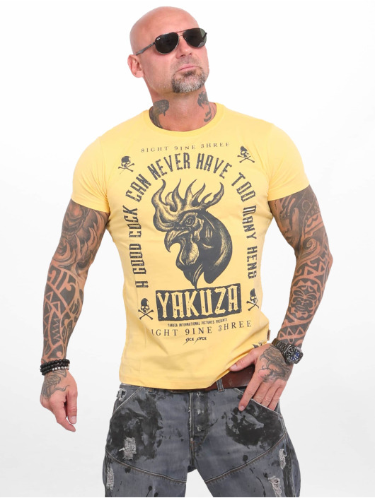 Yakuza T-Shirt Good Cock gelb