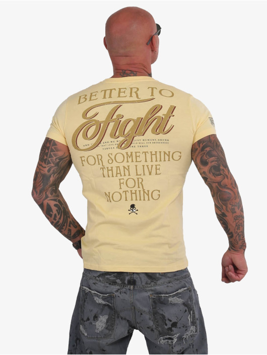 Yakuza T-Shirt Fight Alone gelb