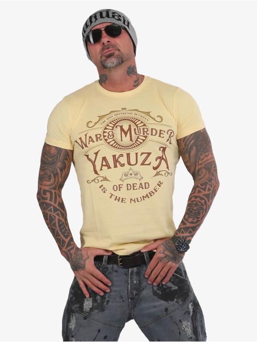 Yakuza T-Shirt War Is Murder gelb
