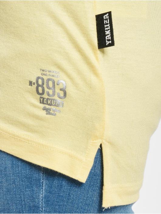 Yakuza T-Shirt 893Love Emb V Neck gelb