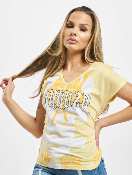 Yakuza T-Shirt Sick Nippon V Neck gelb