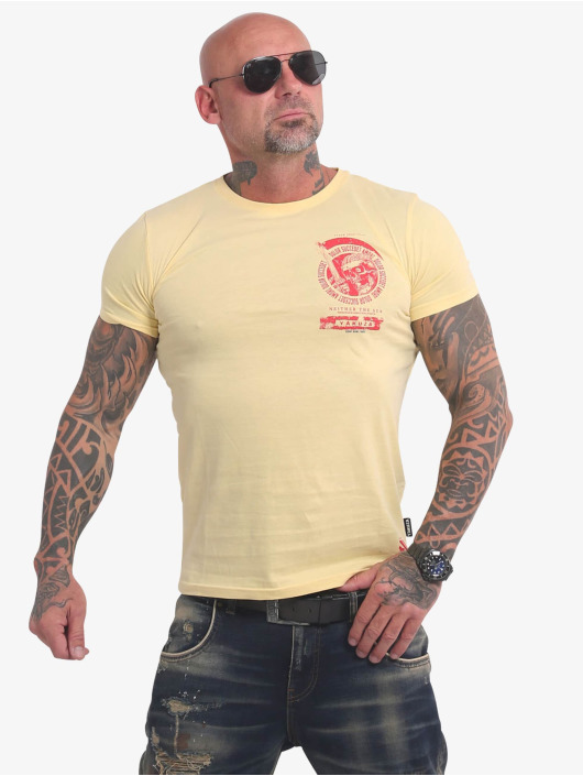 Yakuza T-Shirt Neither The Sun gelb