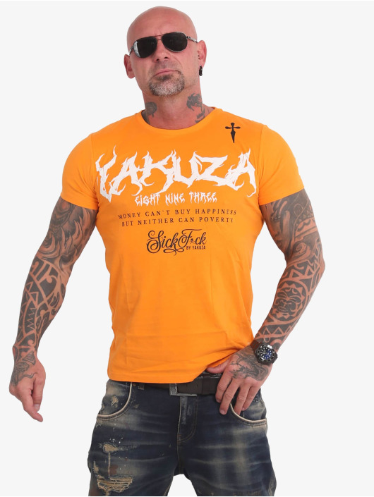Yakuza T-Shirt Buy Happiness gelb