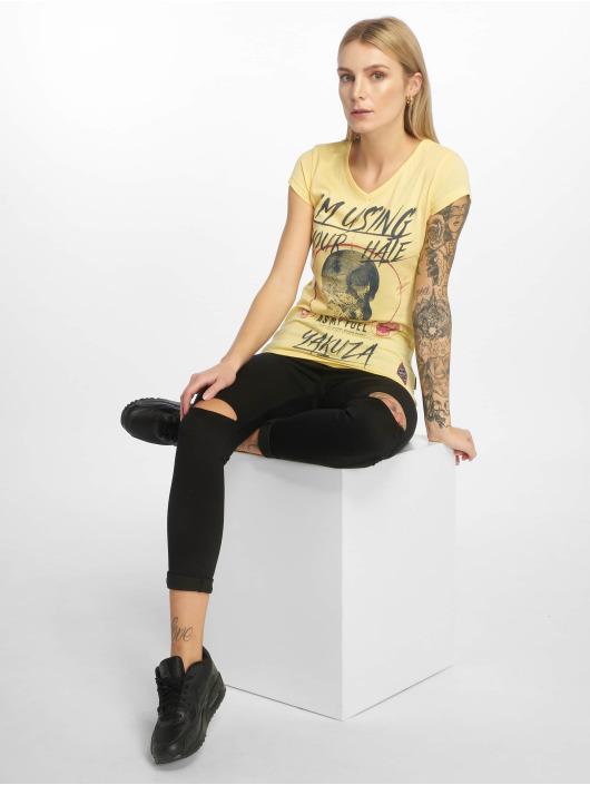 Yakuza T-shirt Your Hate giallo