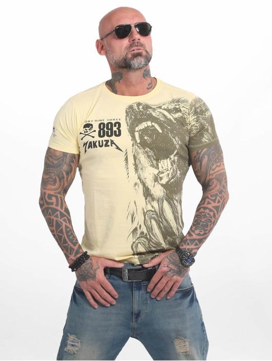 Yakuza T-shirt Beast giallo