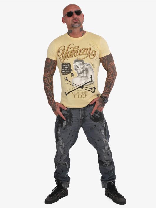 Yakuza T-shirt Fight Alone giallo