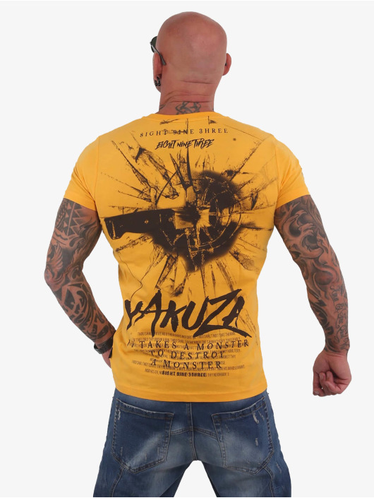 Yakuza T-Shirt Destroy A Monster goldfarben