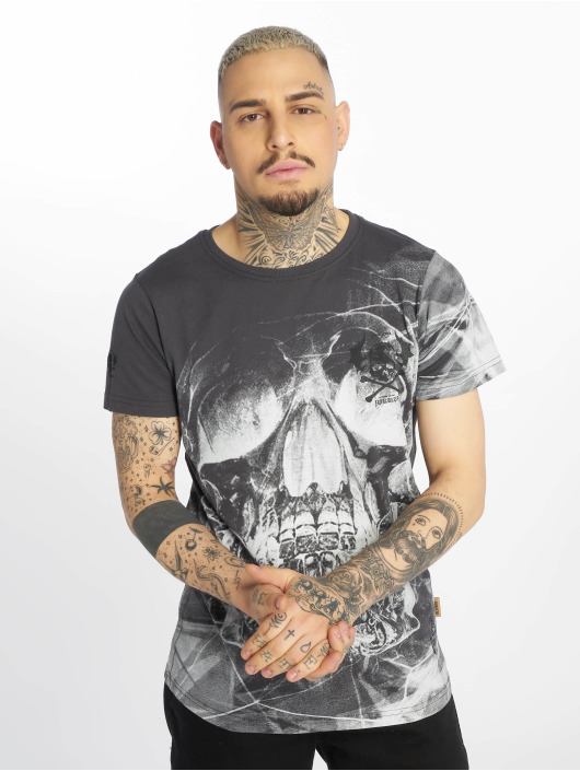 Yakuza T-shirt Cyber Death grå