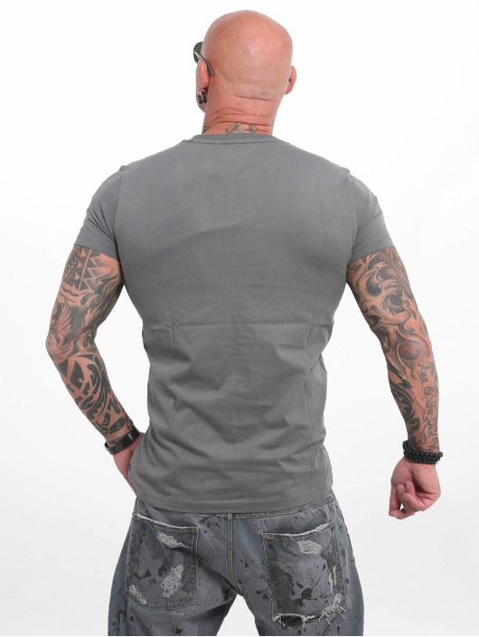 Yakuza T-shirt Basic Line 4W grå