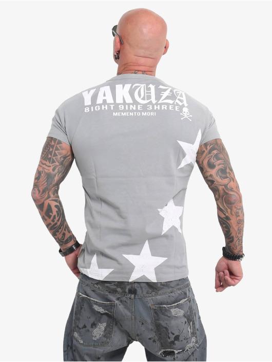 Yakuza T-Shirt Overskulled grau