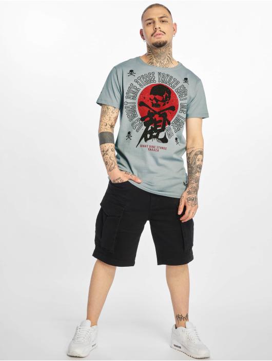 Yakuza T-Shirt Nippon Skull grau