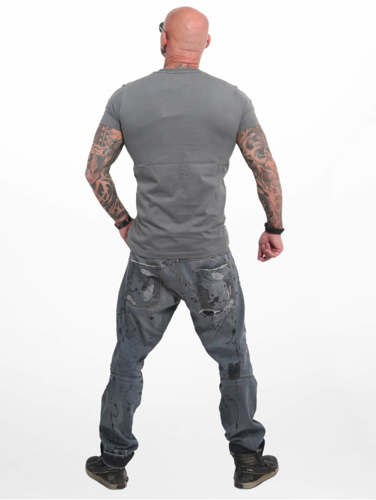 Yakuza T-Shirt Basic Line 4W grau
