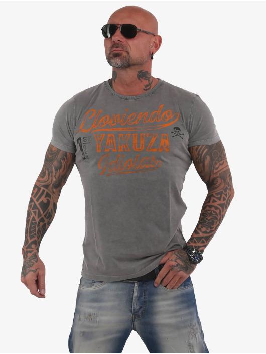 Yakuza T-Shirt Lloviendo grau