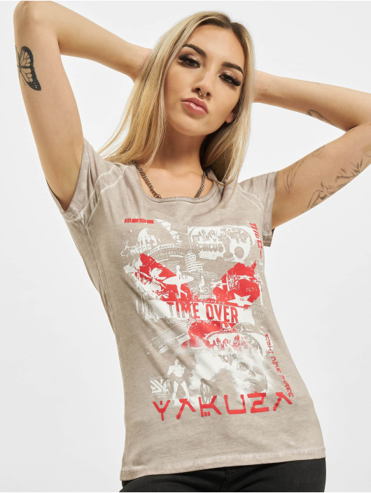 Yakuza T-Shirt Time Over Dye Racer Back grau