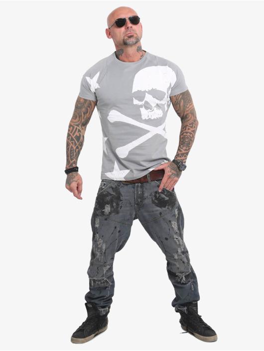 Yakuza T-Shirt Overskulled gray
