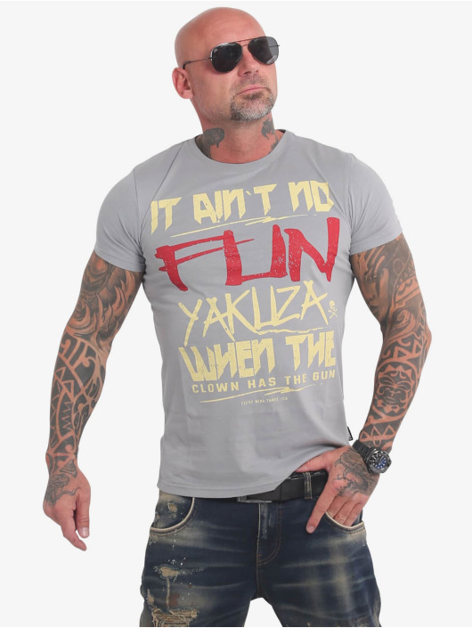Yakuza T-Shirt No Fun gray