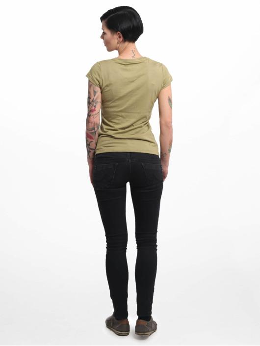 Yakuza T-Shirt Basic Line Script V Neck green
