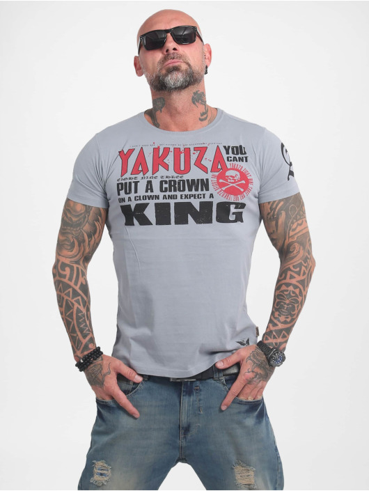 Yakuza T-Shirt Dead Punk grey