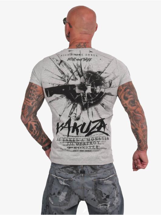Yakuza T-Shirt Destroy A Monster grey