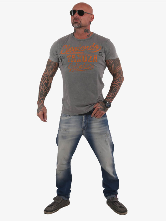 Yakuza T-Shirt Lloviendo grey